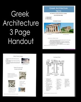 Architecture - Greek Architecture Terms Handout
