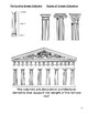 Ancient Greek Architecture, Writing & Mythology Lesson and Student Handouts
