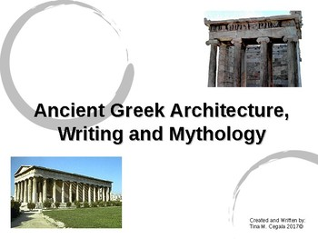 ancient greek architecture writing and mythology powerpoint tpt