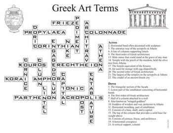 Ancient Greek Art Terms Crossword (Art History)