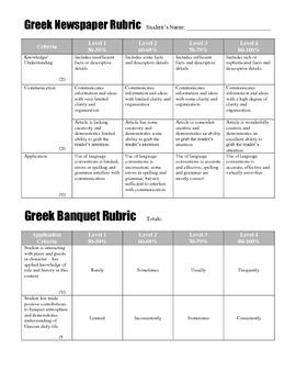 Ancient Greek Banquet and Newspaper Activity