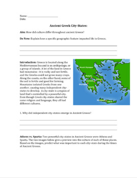 Ancient Greek City-States: Sparta vs. Athens