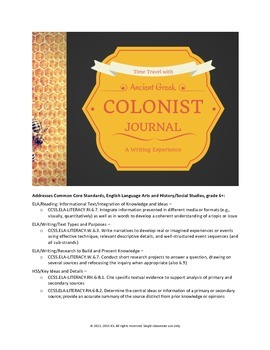 Ancient Greek Colonist Journal (Writing Project)