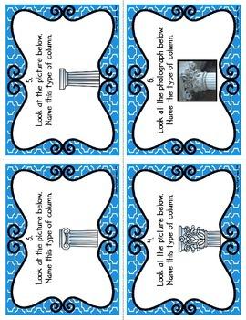 Greek Columns Task Cards