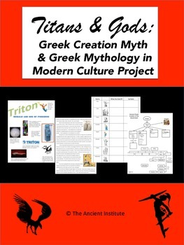 Ancient Greek Creation Myth & Mythology in Modern Culture Project