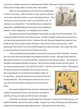 Ancient Greek Creation Myth & Mythology in Modern Culture Project