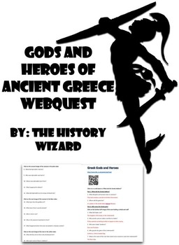 Mythology: Ancient Greek Gods and Heroes Webquest
