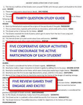 Ancient Greek Literature: Study Guide and Activity Pack