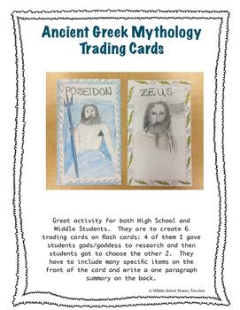 Ancient Greek Mythology Trading Cards