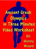 Ancient Greek Olympics in Three Minutes Video Worksheet