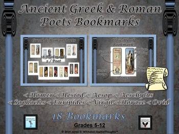 Ancient Greek & Roman Poets Bookmarks