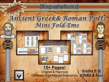 Ancient Greek & Roman Poets Research Mini Fold-Ems