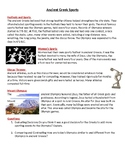 Ancient Greek Sports Worksheet