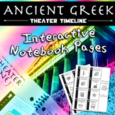 Ancient Greek Theater Timeline Interactive Notebook Pages