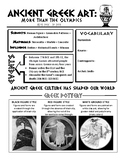 Ancient Greek and Roman Art Student Handout - Art History