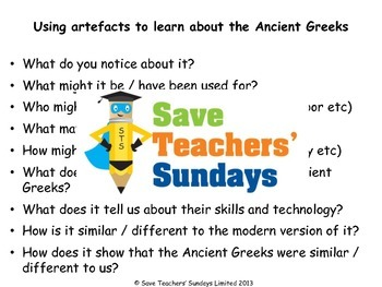 Ancient Greek Artifacts Lesson plan and PowerPoint