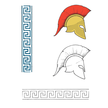 Ancient Greece clip art - Helmet and Pattern