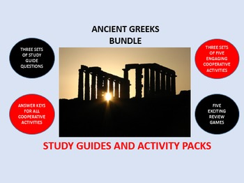 Ancient Greeks Bundle: Study Guides and Activity Packs
