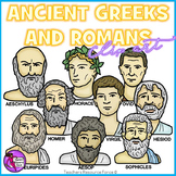 Ancient Greeks and Romans clip art
