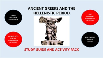 Ancient Greeks and the Hellenistic Period: Study Guide and Activity Pack