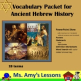 Ancient Israel Vocabulary and Terms Packet