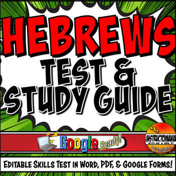 Ancient Hebrews Editable Test and Study Guide