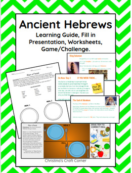 Ancient Hebrews: Learning Guide, Presentation, Google Draw Activity