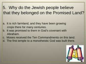 Ancient Hebrews Review Quiz Powerpoint