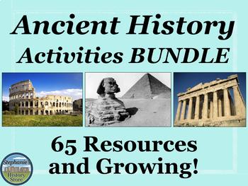 Ancient History Activities Bundle