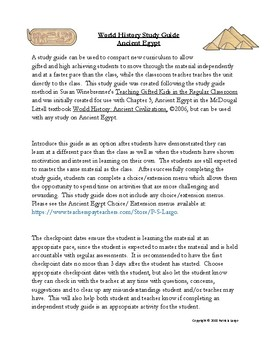 Ancient History: Ancient Egypt Study Guide