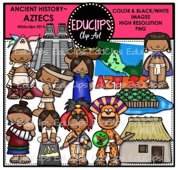 Ancient History - Aztecs Clip Art Bundle {Educlips Clipart}