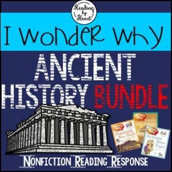 Ancient History Citing Evidence Reading Response I Wonder Why BUNDLE