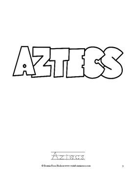 Ancient History Coloring Book: Aztec-Level B