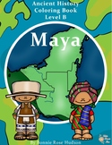 Ancient History Coloring Book: Maya-Level B