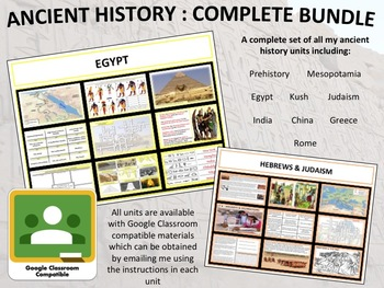 Ancient History : Complete Curriculum Bundle