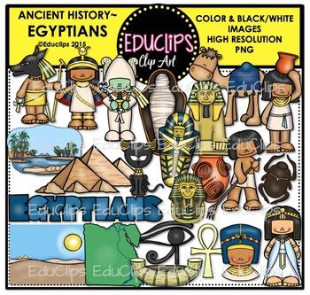 Ancient History - Egyptians Clip Art Bundle {Educlips Clipart}