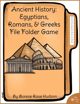 Ancient History: Egyptians, Romans, and Greeks File Folder Game