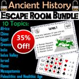 Ancient Civilizations Escape Room Social Studies: Mesopotamia, Rome, Greece, etc