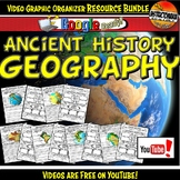 Ancient History Geography YouTube Video Graphic Organizer Bundle Doodle Notes