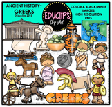 Ancient History - Greeks Clip Art Bundle {Educlips Clipart}
