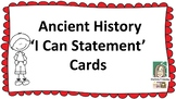 Ancient History 'I Can Statement' Cards