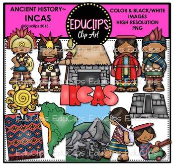 Ancient History - Incas Clip Art Bundle {Educlips Clipart}