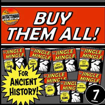 Ancient History Jingle Mingle Activity Bundle: Buy Them All!