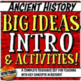 Ancient History Key Concept Big Ideas Introduction, Activi