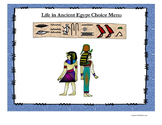 Life in Ancient Egypt Choice Menu