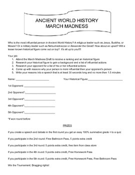 Ancient History March Madness Assignment