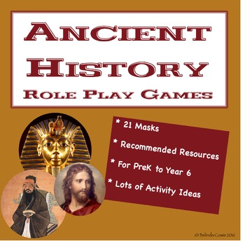 Ancient History Masks for Role Play Games and Activities