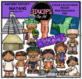 Ancient History - Mayans Clip Art Bundle {Educlips Clipart}