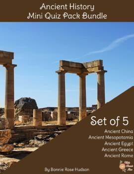 Ancient History Mini Quiz Pack Bundle