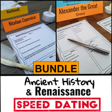Ancient History & Renaissance Projects BUNDLE - Speed Dating